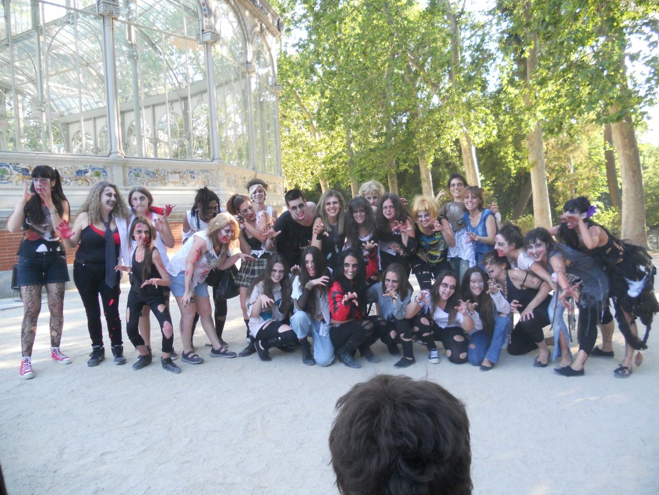 FlashMob Retiro Madrid Michael Jackson