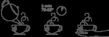 Tiempo de infusionado: 3-5 min 75º 85º Té Blanco