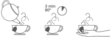 Tiempo de infusionado: 3 min 80º té verde