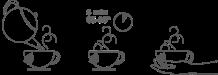 Tiempo de infusionado: 5 min 85º-95º té azul